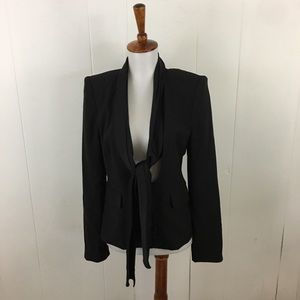 Bird Juicy Couture Tie Neck Blazer Jacket